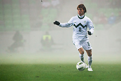 Dejan Lazarevic of Slovenia during friendly football match between National teams of USA and Slovenia, on November 15, 2011 in SRC Stozice, Ljubljana, Slovenia.  USA won 3:2. (Photo By Matic Klansek Velej / Sportida.com)