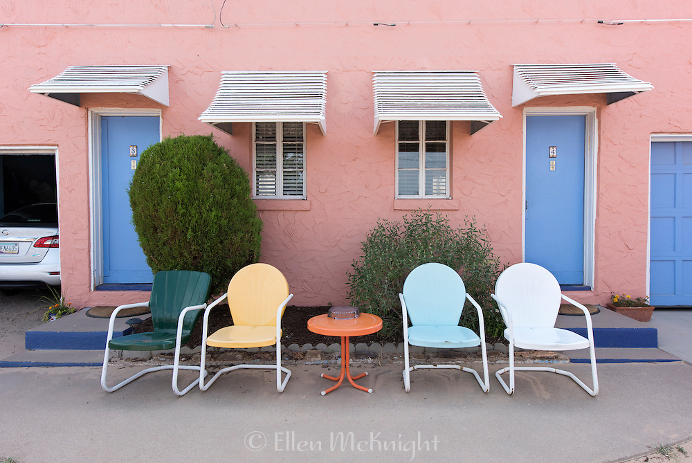 Vintage Chairs at the Blue Swallow Motel in Tucumcari, New Mexico