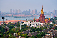 Chine, Province du Yunnan, region et ville de Xishuangbanna, le Mekong // China, Yunnan, Xishuangbanna district and city, Mekong river