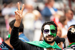 June 14, 2018 - Moscow, Russia - 180614 Fans of Saudi Arabia during the FIFA World Cup group stage match between Russia and Saudi Arabia on June 14, 2018 in Moscow..Photo: Petter Arvidson / BILDBYRÃ…N / kod PA / 92065 (Credit Image: © Petter Arvidson/Bildbyran via ZUMA Press)