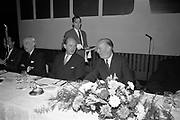 19th November 1968<br /> <br /> Taoiseach Jack Lynch pictured at the official launch of M.O.V.E at the Intercontinental Hotel, Dublin.