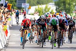 Phil BAUHAUS of BAHRAIN VICTORIOUS and Jon ABERASTURI IZAGA of CAJA RURAL-SEGUROS RGA during 1st Stage of 27th Tour of Slovenia 2021 cycling race between Ptuj and Rogaska Slatina (151,5 km), on June 9, 2021 in Slovenia. Photo by Matic Klansek Velej / Sportida