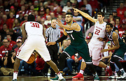 UW-Green Bay forward Kerem Kanter (1) defends Vitto Brown (30) during the second half of the UW-Green Bay Men's Basketball game versus University of Wisconsin at the Kohl Center, Wednesday, December 14, 2016.