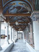 portico of Ikosifinissa monastery, Kavala, Macedonia, Greece