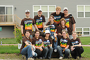 Nicor Inc. employees volunteer with family and friends to help build new  homes at a Habitat for Humanity worksite in West Chicago, Illinois during their company's 15th Volunteer Day on Saturday, May 21st, 2011. The day of civic outreach includes volunteering opportunities like outdoor clean ups at social service agencies, food sorting at area pantries and energy-saving improvements at the homes of senior citizens. For additional information, visit nicor.com or contact Richard Caragol at 630-388-2686.