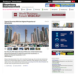 Tearsheet from Bloomberg Businessweek magazine - Dubai