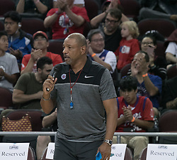 October 10, 2017 - Los Angeles, California, U.S - Coach, Doc Rivers of the Los Angeles Clippers welcomes the fans during their Free Open Practice for fans held on Tuesday October 10, 2017 at the Galen Center in USC in Los Angeles, California. (Credit Image: © Prensa Internacional via ZUMA Wire)