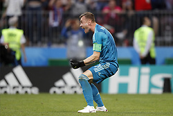 goalkeeper Igor Akinfeev of Russia during the 2018 FIFA World Cup Russia round of 16 match between Spain and Russia at the Luzhniki Stadium on July 01, 2018 in Moscow, Russia