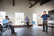 The Rev. Dr. Lawrence R. Rast, Jr., president of Concordia Theological Seminary in Fort Wayne, Ind., teaches class at the Evangelical Lutheran Church in Tanzania – South-East of Lake Victoria Diocese (ELCT-SELVD) Bishop Emmanuel Makala Training Center on Friday, March 13, 2015, in Shinyanga, Tanzania. LCMS Communications/Erik M. Lunsford