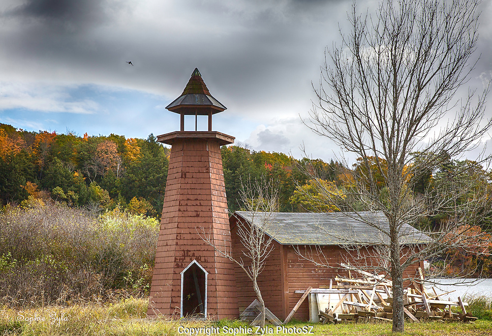 Storm clears over Lighthouse at Lake Morey