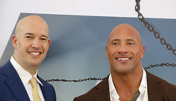 Dwayne Johnson and Hiram Garcia at the World premiere of 'Fast & Furious Presents: Hobbs & Shaw' held at the Dolby Theatre in Hollywood, USA on July 13, 2019.