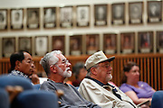 Guests listen to City Council candidates' plans and goals during the Milpitas City Council Forum at Milpitas City Hall in Milpitas, California, on October 9, 2014. (Stan Olszewski/SOSKIphoto)