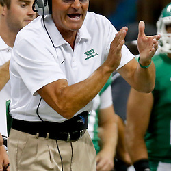 Oct 5, 2013; New Orleans, LA, USA; North Texas Mean Green head coach Dan McCarney  against the Tulane Green Wave during the first half at Mercedes-Benz Superdome. Mandatory Credit: Derick E. Hingle-USA TODAY Sports