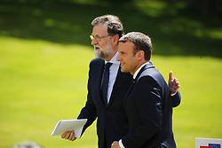 June 16, 2017 - Paris - Mariano Rajoy ( President du gouvernement du Royaume d Espagne ) - Emmanuel Macron  ( president de la Republique Francaise ) - Conference de Presse (Credit Image: © Panoramic via ZUMA Press)