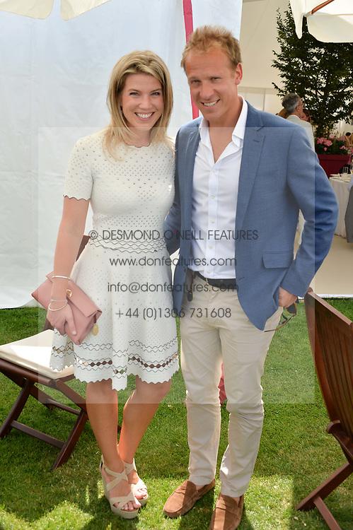 Christopher & Natasha Jackson at Cartier Queen's Cup Polo, Guard's Polo Club, Berkshire, England. 18 June 2017.