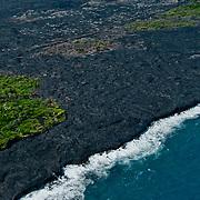 Aerial view of Hawaii Volcanoes National Park.