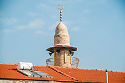 Minaret of a mosque in Jaffa, Israel