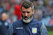 Aston Villa coach Roy Keane looks on. Barclays Premier league match, Aston Villa v Arsenal at Villa Park in Birmingham on Saturday 20th Sept 2014<br /> pic by Mark Hawkins, Andrew Orchard sports photography.