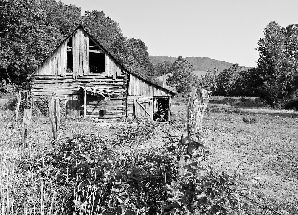 Even though this barn is missing a few boards it still provides a dry shelter for this farm's horse.