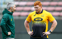 Aled Walters of South Africa with Steven Kitshoff of South Africa - Mandatory by-line: Steve Haag/JMP - 22/06/2018 - RUGBY - DHL Newlands Stadium - Cape Town, South Africa - South Africa Captains Run, South Africa Tour