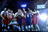 Celebration Poland World Champion <br /> Poland team celebrate world Championships victory <br /> Torino 30-09-2018 Pala Alpitour <br /> FIVB Volleyball Men's World Championship <br /> Pallavolo Campionati del Mondo Uomini <br /> Final - Finae <br /> Brazil - Poland / Brasile - Polonia <br /> Foto Antonietta Baldassarre / Insidefoto
