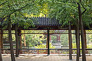 Traditional Chinese pavillion in Zhongshan Park in Beijing, China