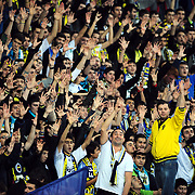 Fenerbahce Ulker's supporters during their Euroleague Basketball Game 7 match Fenerbahce Ulker between Olympiacos at Sinan Erdem Arena in Istanbul, Turkey, Thursday, December 01, 2011. Photo by TURKPIX