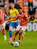 Football - 2021 / 2022 EFL Carabao Cup - Round Two - Blackpool vs. Sunderland -Bloomfield Road - Tuesday 24th August 2021<br /> <br /> Tyreece John-Jules of Blackpool, at Bloomfield Road.<br /> <br /> COLORSPORT/Alan Martin