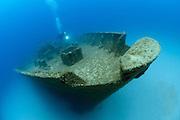 The wreck of the Um El Faroud, Malta.