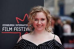 "Katherine Pearce, on the red carpet at the Edinburgh International Film Festival world Premier of ""England is Mine"" at Edinburgh's Festival Theatre. Sunday, 2nd July, 2017(c) Brian Anderson | Edinburgh Elite media"