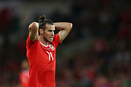 Gareth Bale of Wales looks on. Wales v Austria , FIFA World Cup qualifier , European group D match at the Cardiff city Stadium in Cardiff , South Wales on Saturday 2nd September 2017. pic by Andrew Orchard, Andrew Orchard sports photography