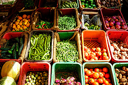 Fresh local produce for sale at a fruit and vegetable market in Tagounite, Morocco<br /> <br /> (c) Andrew Wilson   Edinburgh Elite media
