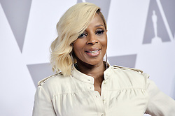 Mary J. Blige arrives at the 90th Annual Academy Awards Nominee Luncheon held at the Beverly Hilton in Beverly Hills, CA on Monday, February 5, 2018. (Photo By Sthanlee B. Mirador/Sipa USA)