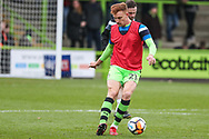 Forest Green Rovers Mark Roberts(21) warming up during the The FA Cup match between Forest Green Rovers and Exeter City at the New Lawn, Forest Green, United Kingdom on 2 December 2017. Photo by Shane Healey.