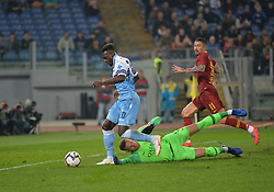 March 2, 2019 - Rome, Lazio, Italy - Felipe Caicedo kicks goal 1-0 during the Italian Serie A football match between S.S. Lazio and A.S Roma at the Olympic Stadium in Rome, on march 02, 2019. (Credit Image: © Silvia Lore/NurPhoto via ZUMA Press)