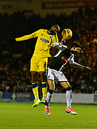 Jimmy Abdou (8) of AFC Wimbledon battles for possession with Ruben Lameiras (11) of Plymouth Argyle during the EFL Sky Bet League 1 match between Plymouth Argyle and AFC Wimbledon at Home Park, Plymouth, England on 13 February 2018. Picture by Graham Hunt.