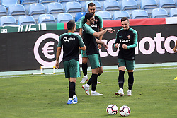 September 6, 2018 - Na - Loulé, 05/09/2018 - National Team AA: Preparation for the League of Nations: Adaptive training for the preparation match with Croatia at the Estádio Algarve. Gonçalo Guedes; Mário Rui; (Credit Image: © Atlantico Press via ZUMA Wire)