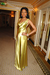 Actress NAOMI HARRIS at the Chain of Hope Ball held at The Dorchester, Park Lane, London on 4th February 2008.<br /><br />NON EXCLUSIVE - WORLD RIGHTS