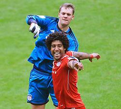 Football: Germany, 1. Bundesliga<br /> FC Bayern Muenchen<br /> Manuel Neuer and Dante<br /> © pixathlon