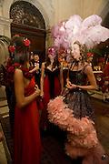OLIMPIA  Bortolotto Possati; Francesca Bortolotto Possati, Alessandro and Olimpia host Carnevale 2009. Venetian Red Passion. Palazzo Mocenigo. Venice. February 14 2009.  *** Local Caption *** -DO NOT ARCHIVE -Copyright Photograph by Dafydd Jones. 248 Clapham Rd. London SW9 0PZ. Tel 0207 820 0771. www.dafjones.com<br /> OLIMPIA  Bortolotto Possati; Francesca Bortolotto Possati, Alessandro and Olimpia host Carnevale 2009. Venetian Red Passion. Palazzo Mocenigo. Venice. February 14 2009.