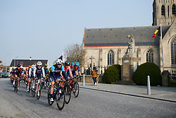 Sofia Bertizzolo (ITA) leads the bunch at Gent Wevelgem - Elite Women 2019, a 136.9 km road race from Ieper to Wevelgem, Belgium on March 31, 2019. Photo by Sean Robinson/velofocus.com