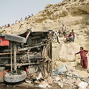 Accident of a bus carrying pilgrims.
