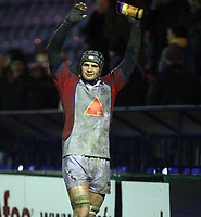 Photo: Rich Eaton.<br /> <br /> Sale Sharks v Bristol Rugby. Guinness Premiership. 01/01/2007. Dan Ward-Smith applauds the travelling fans at the end of the game as Bristol win away at Sale due to Ward-Smiths try