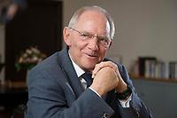 23 FEB 2016, BERLIN/GERMANY:<br /> Wolfgang Schaeuble, CDU, Bundesfinanzminister, waehrend einem Interview, in seinem Buero, Bundesministerium der Finanzen<br /> IMAGE: 20160223-01-010<br /> KEYWORDS: Wolfgang Schäuble