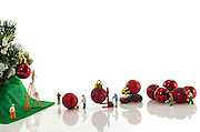 Little world is the creation of Photographer Chris Willemsen, who creates these eye catching situations around everyday objects using children's toys<br /> <br /> Photo shows: Preparing for Xmas<br /> ©Exclusivepix Media