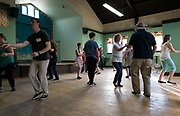 Participants in the Jumptown Swing class dance at the Wil-Mar Neighborhood Center in Madison, Wisconsin, Thursday, May 23, 2019.