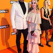 NLD/Amsterdam/20190208- 100% NL Awards  2019, Rachel Kramer en partner Deon Leon