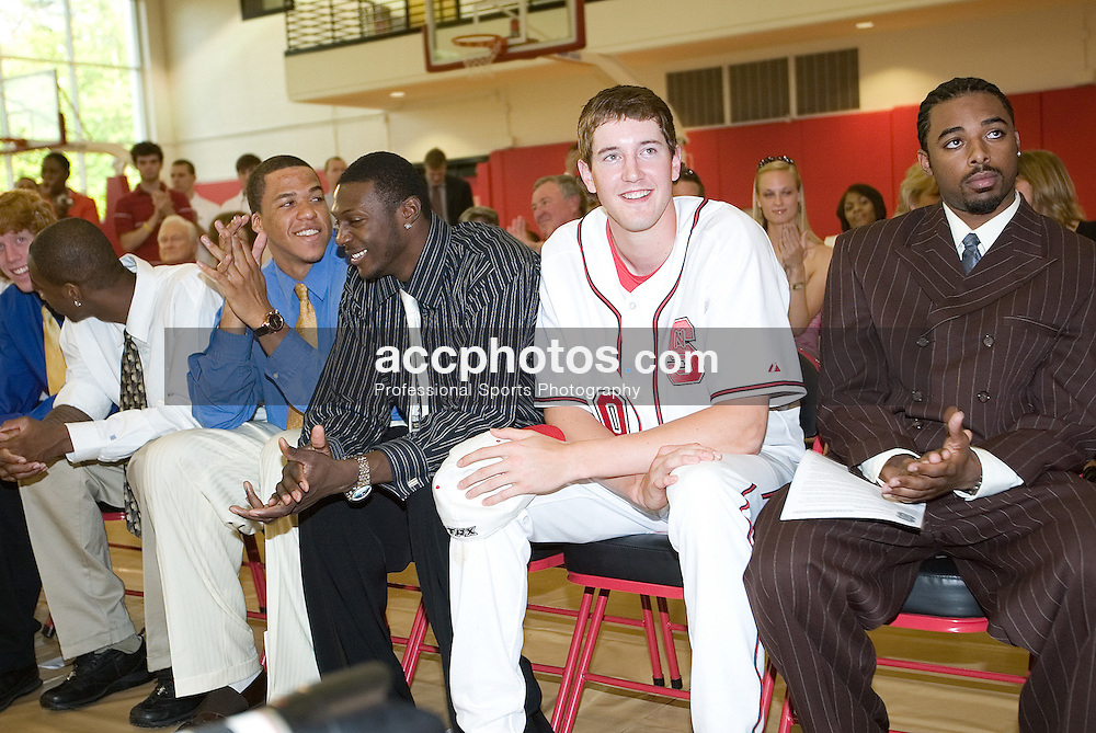 06 May 2006: Andrew Brackman as Sidney Lowe is announced as the 18th head coach at North Carolina State at the Dail Basketball Center in Raleigh, NC.