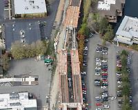 Sound Transit East Link elevated railway near Lake Bellevue.