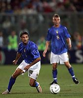 Palermo 4/9/2004 World cup 2006 qualifying match - Qualificazioni mondiali 2006. <br /> <br /> Italia - Norvegia  2-1 - Italy Norge 2-1 <br /> <br /> Stefano Fiore and, in the background, Daniele De Rossi Italy<br /> <br /> Foto Andrea Staccioli Graffiti